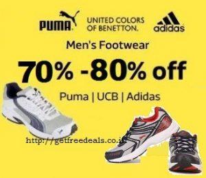 Top Brands Men's Footwear:  Flat 70% -80% off – Flipkart
