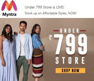 Myntra – Store under Rs. 799