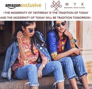 Amazon Exclusive: Myx Women's Ethnic Wear – Flat 50% off