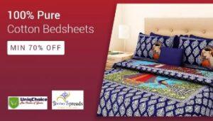 Cotton Bedsheet (100% Pure)