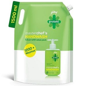 Godrej Protekt Masterchef's Handwash 1500ml for Rs.187 – Amazon