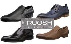 Ruosh Men's Leather Formal Shoes- Minimum 55% Off