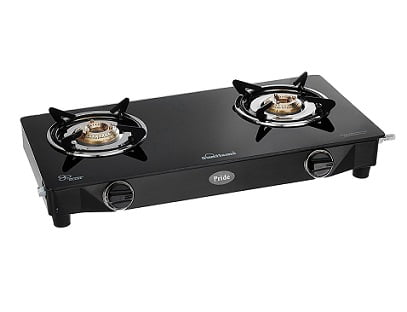 Sunflame GT Pride 2 Burner Gas Stove, Black for Rs.1999 with 2 Yrs Warranty – Amazon (Limited Period Offer)