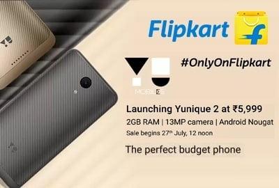 Yu Yunique 2 (16 GB ROM, 2 GB RAM, 4G VoLTE) for Rs.3,999 – Flipkart