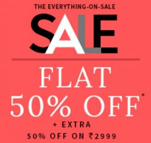 Clothing, Footwear, Accessories – Flat 50% off + Extra 50% off @ AJIO