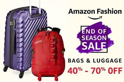 Bags & Luggage – Flat 40% – 70% off – Amazon