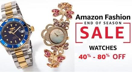 Watches (Men's & Women's) – Flat 40% – 80% off @ Amazon