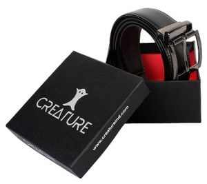Creature Men's Reversible Pu-Leather Formal Belts(Color-Black/Brown  BL-01) worth Rs.1499 for Rs.349 – Amazon