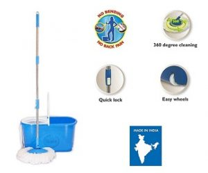 Gala e-Quick Spin Mop with Easy Wheels and Bucket with Free Refill for Rs.1049 – Amazon (Limited Period Offer)