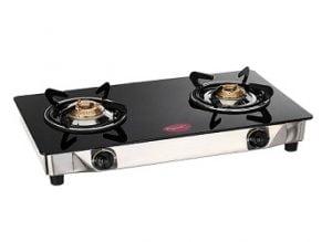 Pigeon Backline Smart 2 Burner Gas Stove, Black for Rs. 2082 – Amazon