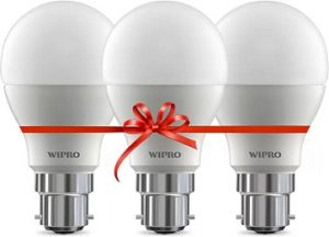 Wipro 10 W Standard B22 LED Bulb (White, Pack of 3) for Rs.309 – Flipkart