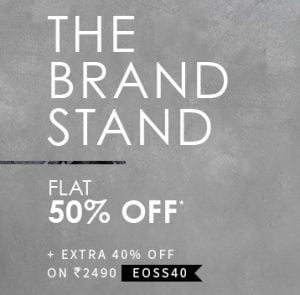 Clothing, Footwear & Accessories – Flat 50% off + Extra 40% off – AJIO