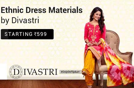 Divastri Salwar Suit Dress Material – upto 80% off starts from Rs.527 – Flipkart