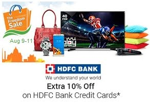 Flipkart Big Freedom Sale – Up to 71% Discount and Top Deals & Offers + 10% Instant Off with HDFC Debit / Credit Card (9th – 11th Aug'17)