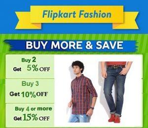 Clothing, Shoes & Accessories – Minimum 30% off + Extra 15% off – Flipkart