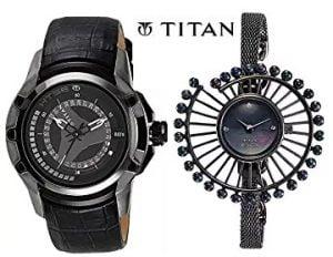 Titan Watches for Men's / Women's – Flat 70% off – Amazon