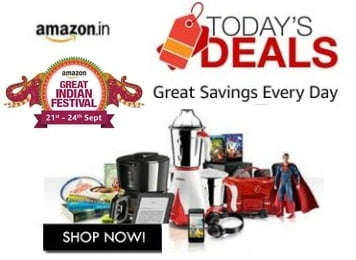 Amazon Great Indian Festival Block Buster Deal – Upto 80% Off on Computer, Mobile, Clothing, Kitchen, Footwear, Home Essentials, Groceries + 10% Cashback with HDFC Cards