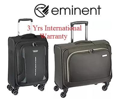 Eminent (Company from Taiwan) 4 Wheel Luggage – Flat 70% off + 15% Cashback + 10% Off with SBI Cards – Amazon (3 Yrs International Warranty)