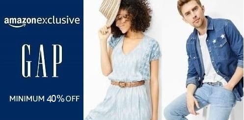 GAP Clothing (Men's, Women's, Kids) – Minimum 40% off – Amazon