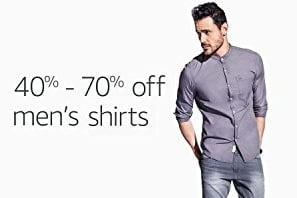 Men's Formal & Casual Shirts – Flat 40% – 70% off – Amazon