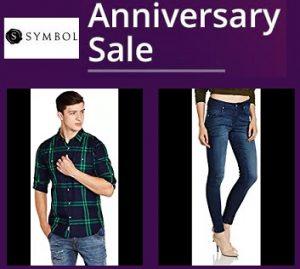 Anniversary Offer:  Symbol Clothing (Men's / Women's) upto 70% off + Extra 20% off – Amazon