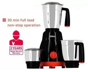Steal Deal: Billion Big Jar MG101 550 W Mixer Grinder  (Black, 3 Jars) for Rs.1315 – Flipkart