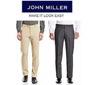 John Miller Trousers – Flat 70% off starts Rs.389 – Amazon