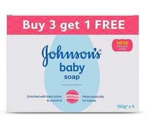 Johnson's Baby Soap, 150g (Buy 3 Get 1 Free) worth Rs.320 for Rs.204 – Amazon
