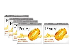 Pears Pure and Gentle Bathing Bar, 125g (Buy 4 Get 1 Free) worth Rs.265 for Rs.205 – Amazon