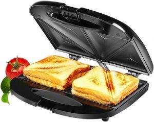 Solimo Non-Stick Sandwich Maker (750 watt, Black) for Rs.799 – Amazon