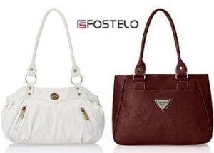 Min 50% upto 75% Off on Fostelo Women's Hand Bags @ Amazon