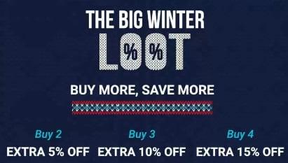 Winter's Clothing: Upto 80% off + Extra Discount upto 15% – Flipkart