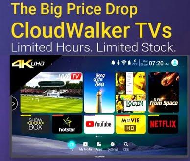 CloudWalker LED TVs Big Price Drop @ Flipkart (Live at 12 PM on 14th Jan)