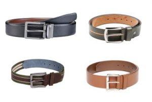Men's Genuine Leather Belts Flat 70% – 80% off @ Myntra