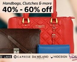 Women Handbags & Clutches - Min 40% Off