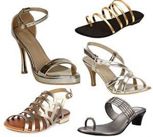 Women's Metallic Sandals upto 70% off – Amazon