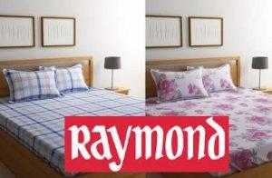 Raymond Bedsheet upto 76% off + Extra 10% – 15% off @ Flipkart