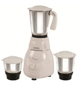 Surya Ventura 500 W 3 Jar Mixer Grinder for Rs.912 – Pepperfry (Limited Period Offer)