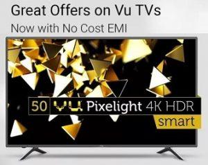 Big Deals on Vu LED TV @ Flipkart – Upto Rs.51000 Extra Off + Extra 10% Discount with SBI Credit Card + No Cost EMI (Valid till 30th Nov)