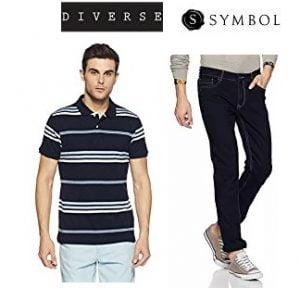Flat 50%-70% off on Men's wear: Symbol, Diverse, Endeavour @ Amazon