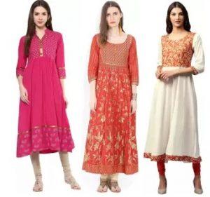 Anarkali Kurta, Suits & Gowns – upto 80% off @ Flipkart