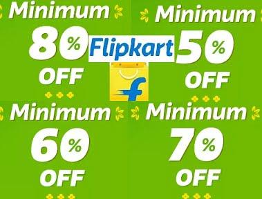 Flipkart Final Hour Sale – Minimum 80% – 70% – 69% – 60% off stores