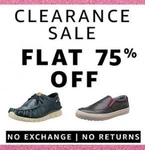 Men's Footwear Clearance Sale – Flat 75% off @ Amazon