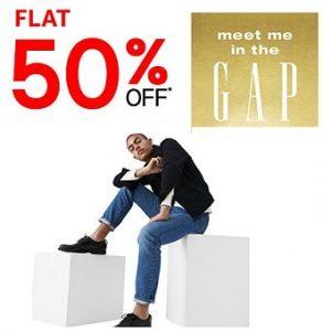 GAP Clothing – Flat 50% off @ Amazon