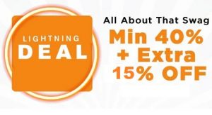 Jabong: Min 40% – Upto 80% Off + Extra 15% Off on all Lifestyle products