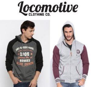 Locomotive Sweatshirts / Hoodies - Flat 70% off