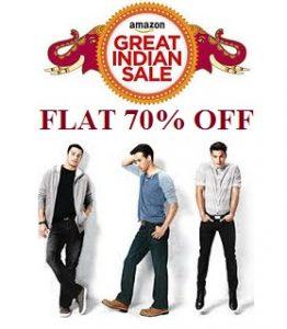 Top Brand'S Men's Clothing (Adidas/ Puma/ REEBOK/ Lee/ Levi's/ UCB/ Wrangler & more) – Flat 70% off + 10% Cashback