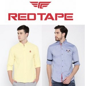 Red Tape Casual Shirts – Flat 60% – 70% off + Extra Discount (starts from Rs.294) @ Myntra