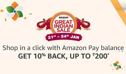 Shop with Amazon Pay Balance & Get Extra 10% Cashback as Amazon Pay Balance (Live for Amazon Prime Members)