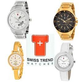 Swiss Trend Watches – Flat 50% off @ Flipkart
